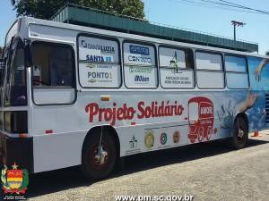 Ônibus de projeto da PMSC é repaginado